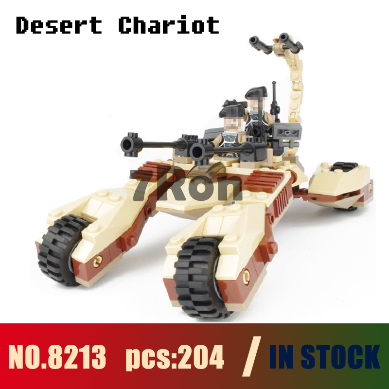 Models building kits 8213 204pcs Star Earth Border Desert Strike Chariot Building Blocks compatible with lego toys & hobbies
