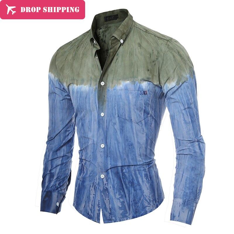 elegante camisa de los hombres camisas de vestir de manga larga divertida rayas para hombre moda