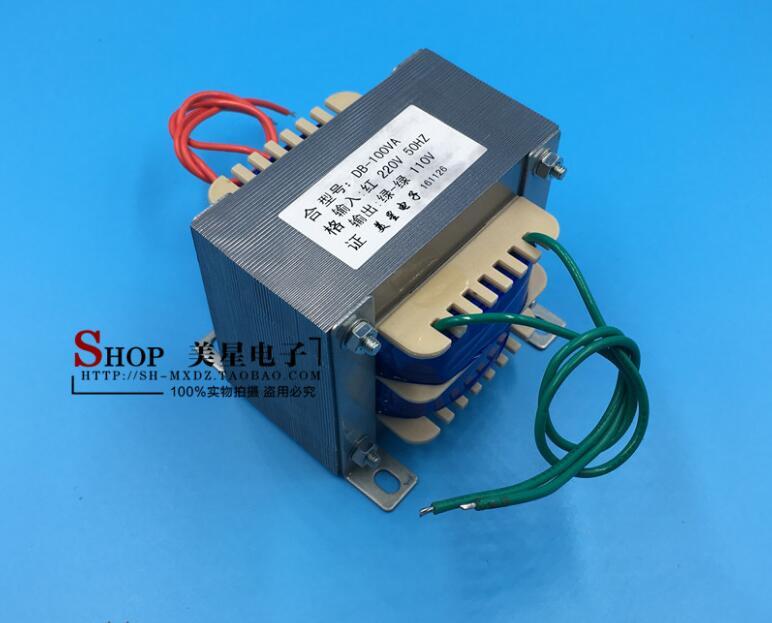 110V 0.9A Transformer 100VA 220V input EI86 Transformer power supply transformer Safety isolation min melt 110v transformer transformer transformer transformer home abroad 220v