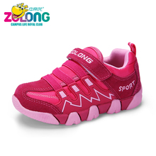 Girl Shoes Kids Sneakers Trainer For Children Sport Safety Spring Imported Footwear Designer Brand Fashion Pink School Slip On