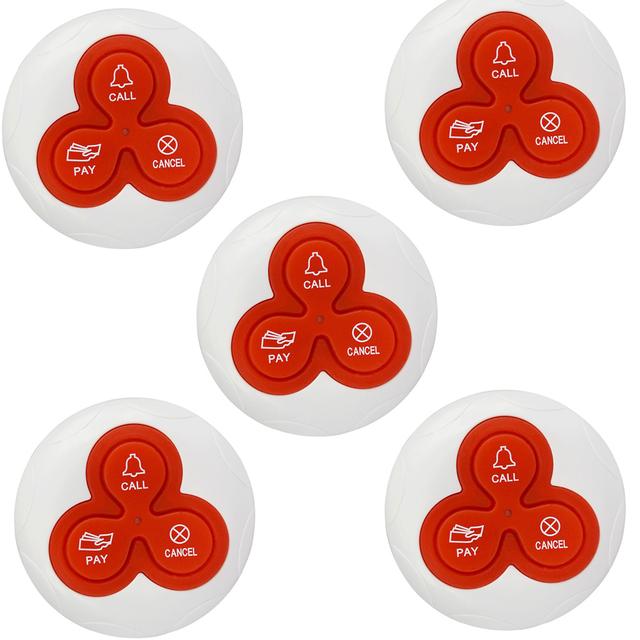 Botão do Transmissor Pager Chamada sem fio Chamando Sino Sistema de Chamada para o Restaurante Do Hotel Pager 433 MHz F4413B