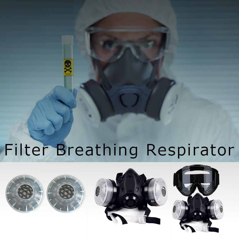 In stock! Half Face Gas Mask With Anti-fog Glasses N95 Chemical Dust Mask Filter Breathing Respirator For Painting Spray Welding