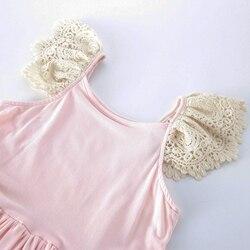 Pink girl long dress,Junior Bridesmaid dress Wedding girl dress Party girl dress Birthday girl dress Lace baby dress Tutu dresses (5)_