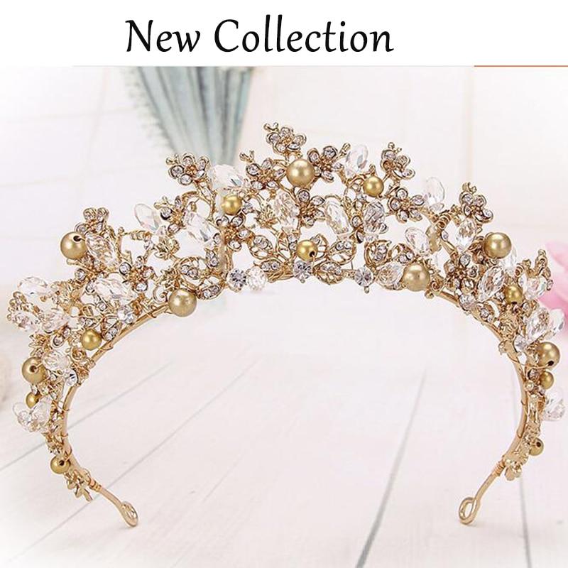 Fashion Magnificent Diadem Clear Crystal Bridal Tiaras Flower Wedding - მოდის სამკაულები - ფოტო 5