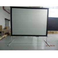 16:9 быстро сложить проектор проецирования Экран с обратной проекции Материал на тяжелых Рамки