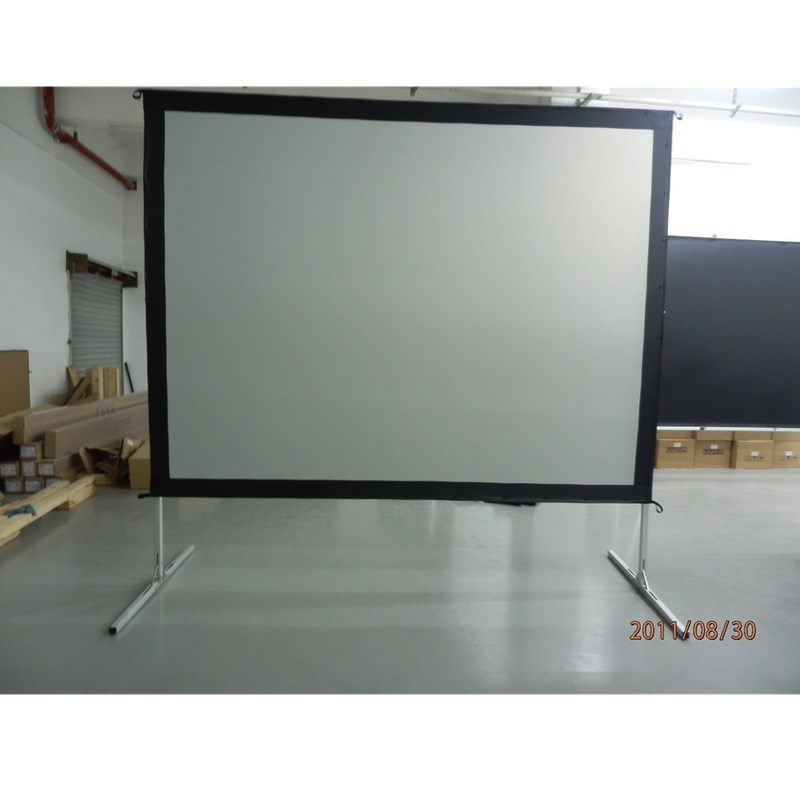 16:9 Fast Fold Projector Projection Screen with Rear Projection Material on Heavy Duty Frame 24 dark gray gray white holographic rear projection screen transparent rear projector film indoor hologram advertising