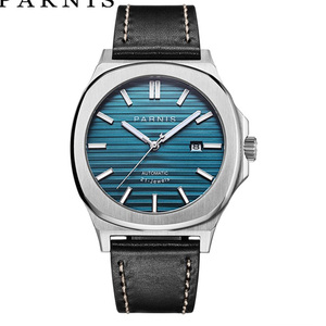 Image 2 - Parnis 42mm Mechanical Mens Watches Automatic Men watch Clock Top Brand Luxury Diver Sapphire Crystal Relogio Masculino 2019