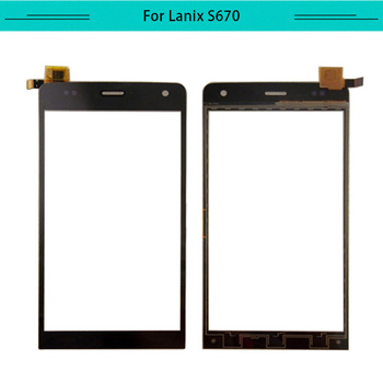 Tested 20pcs tactil For Lanix Ilium S670 Touch Screen Glass Sensor touch Panel Digital Free Shipping