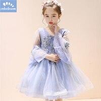 Enfants Filles Fleur Robe Pourpre Bébé Papillon D'anniversaire Partie Robes Fille Enfants Fantaisie Princesse robe de Bal De Mariage Vêtements