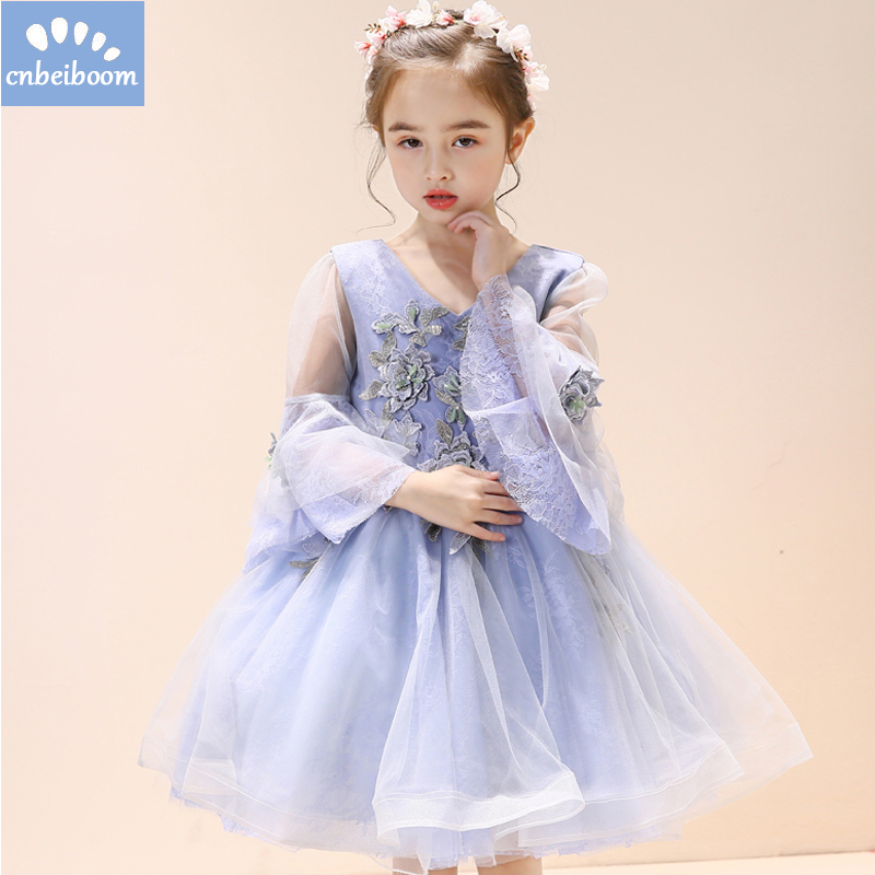 Kids Girls Flower Dress Purple Baby Butterfly Birthday Party Dresses Girl Children Fancy Princess Ball Gown Wedding Clothes sleeveless casual dress for girl clothes princess dress baby girls clothes flower ball gown dresses kids birthday party costumes