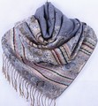 Fashion Gray Women's Silk Pashmina Shawl Scarf Wrap honeybee flower Free Shipping Wholesale Retail FF-XMF7