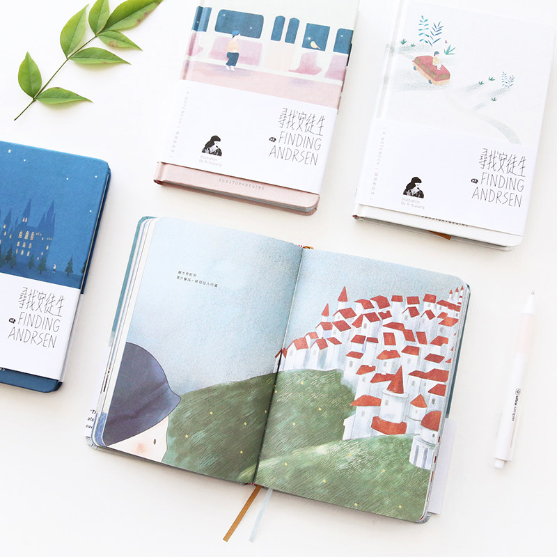 Fromthenon Andersen Hardcover Notebook Travel Diary With Color Blank Paper Student Notepad Korean Stationery School Supplies fromthenon korean metal cover notebooks and journals creative kawaii stationery color paper blank planner office school supplies