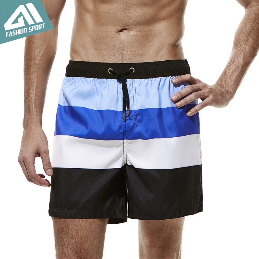 2018 New Fast Dry Men's   Board     Shorts   Summer Vacation Beach Surfing   Shorts   for Men Sport Running Swimming Trunks Male AM2057