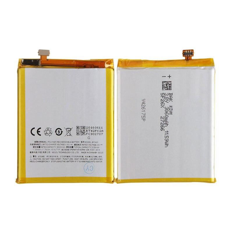Оригинальный резервного копирования для meilan Примечание 2 bt42c Батарея 3100 мАч смарт-мобильный телефон для meilan Примечание 2 bt42c Примечание