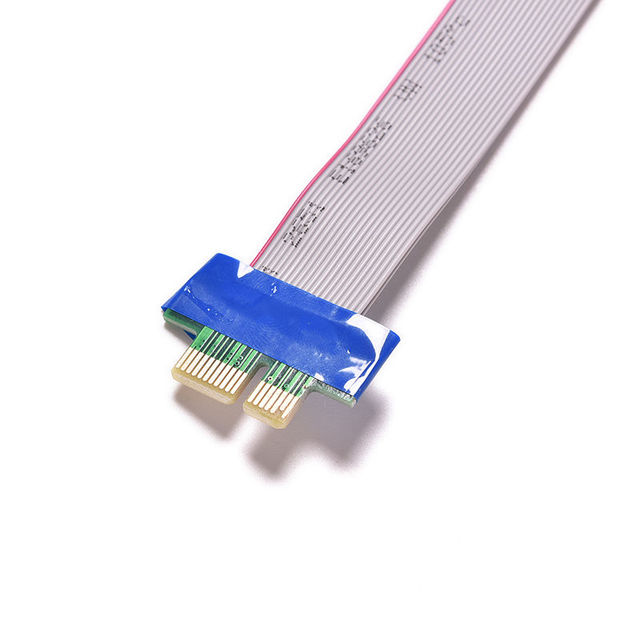 New arrive PCI Express Flex Relocate Cable PCI-E 1X to 1x Slot Riser Card Extender Extension Ribbon for Bitcoin Miner 4