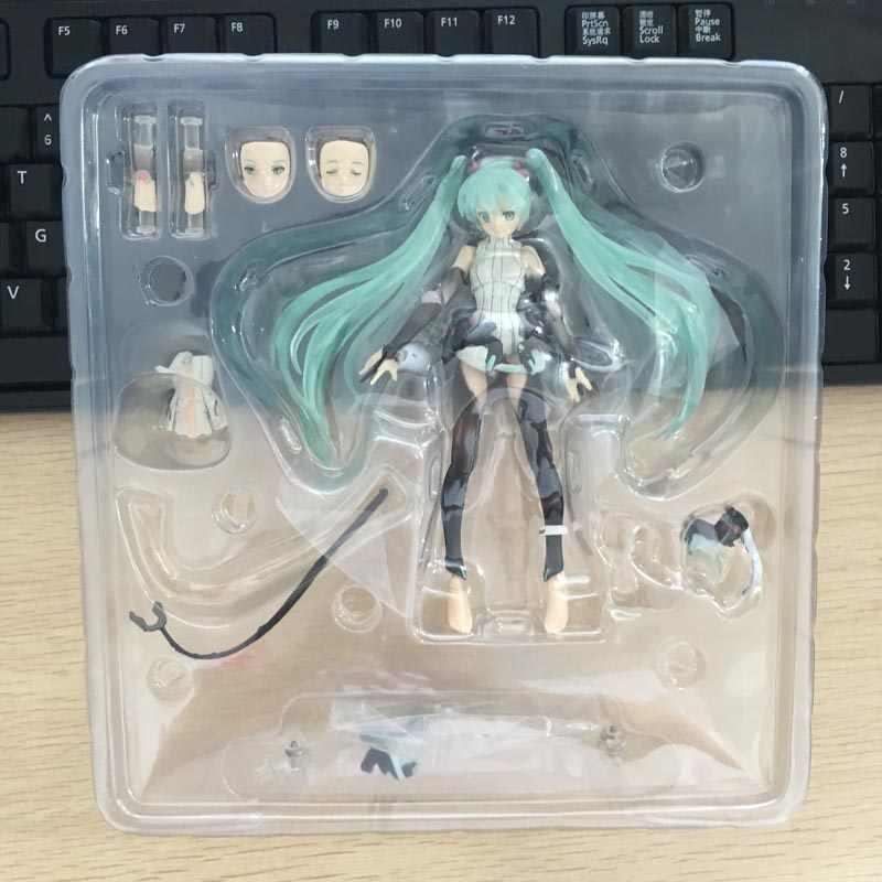 """Figma 100 Hatsune Miku Append Figuras BJD Brinquedos 6 """"15 centímetros"""