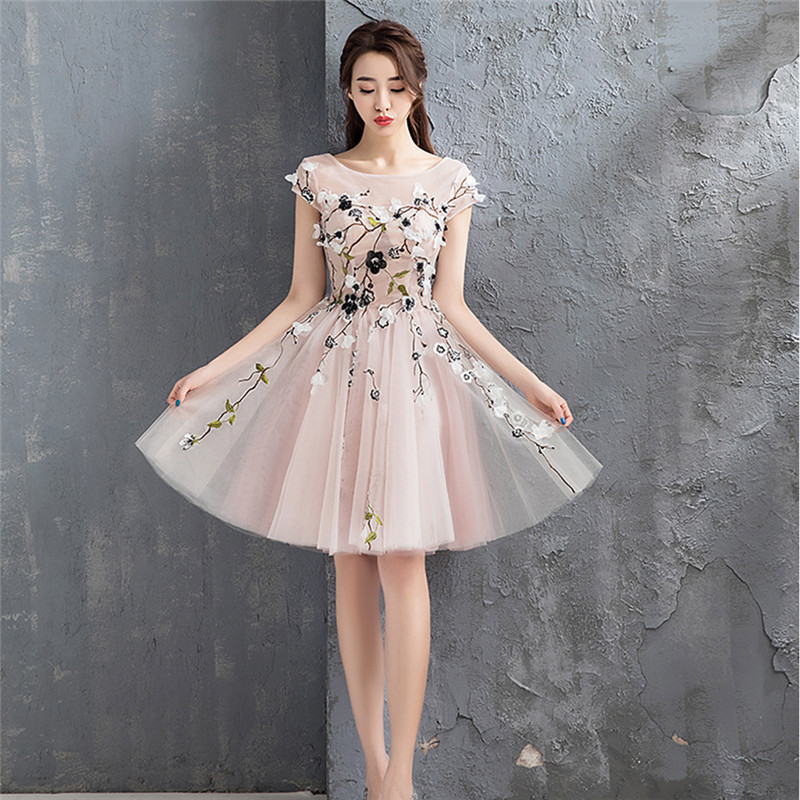 Mingli Tengda Tulle   Bridesmaid     Dresses   Appliques   Dress   2018 Elegant   Dress   for Wedding Party robe demoiselle d'honneur pour femme