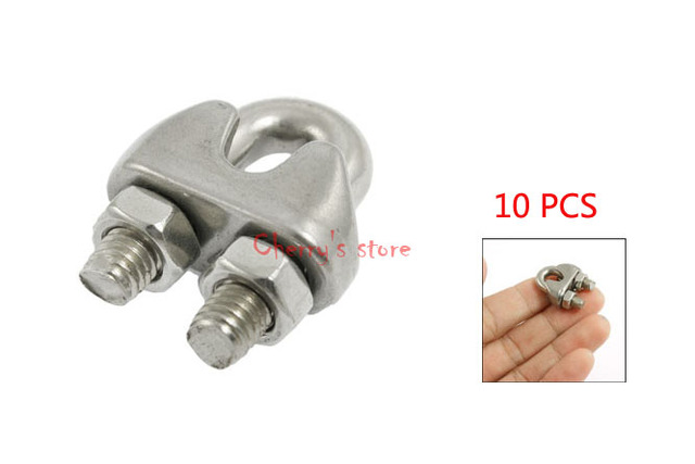 10 PCS Stainless Steel Cable Clip Saddle Clamp for 5/32\