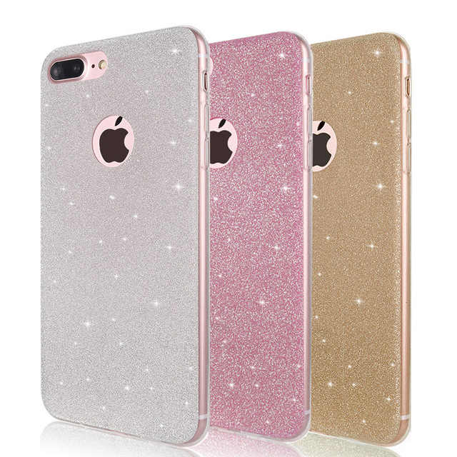 Glitter Bling High Quality Case For iphone 7 8 6 S 6s Plus X XS Max XR 5 5S SE 6Plus 7Plus 8Plus Cover silicone Gel casing