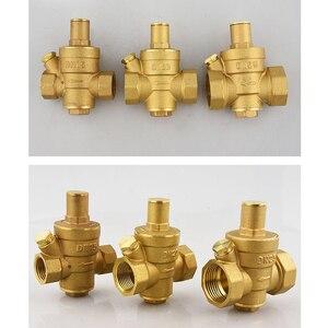 Image 5 - Dn15 dn20 dn25 bronze água pressão reduzindo manutenção válvulas regulador mayitr ajustável válvulas de alívio com medidor