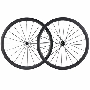 Image 2 - Factory Sales 700C Carbon Wheelset Tubular 38mm 50mm 60mm 88mm Carbon Bicycle Wheels Clincher Road Bike Wheels Basalt Braking