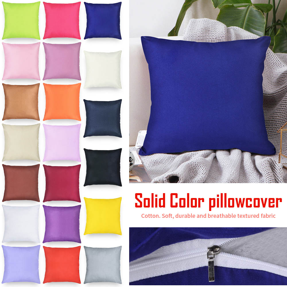 Pillow-Cover Decorative Relaxing Knee Cotton Good-Sleeping-40x40cm Solid-Color 1pc