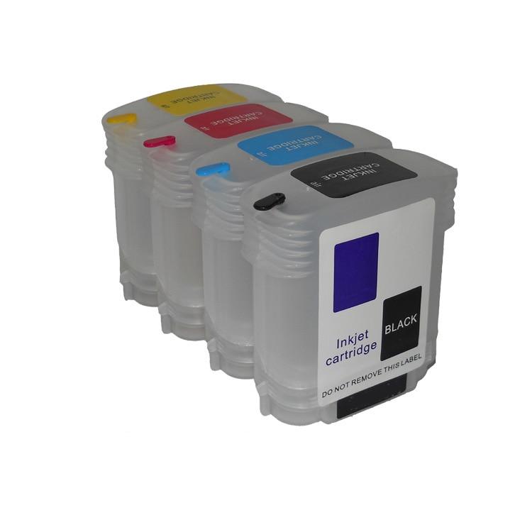 4pcs 69ML Empty Refillable ink cartridges for hp Designjet500 500ps 800 800ps 815MFP printer