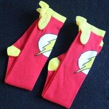 Cartoon superman batman spiderman cape socks cotton knee high long sock men women superheroes cloak sokken unisex new year socks