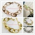 Recién llegado de señora Women oro plata oro rosa Multi-Color 316L acero inoxidable del grado superior pulsera de cadena de regalo fresco con estilo de la joyería