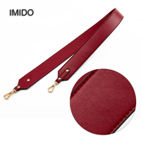 IMIDO 100% Genuine leather Women Men replacement straps shoulder belt bag handbag accessories parts for bags ornament Red STP090