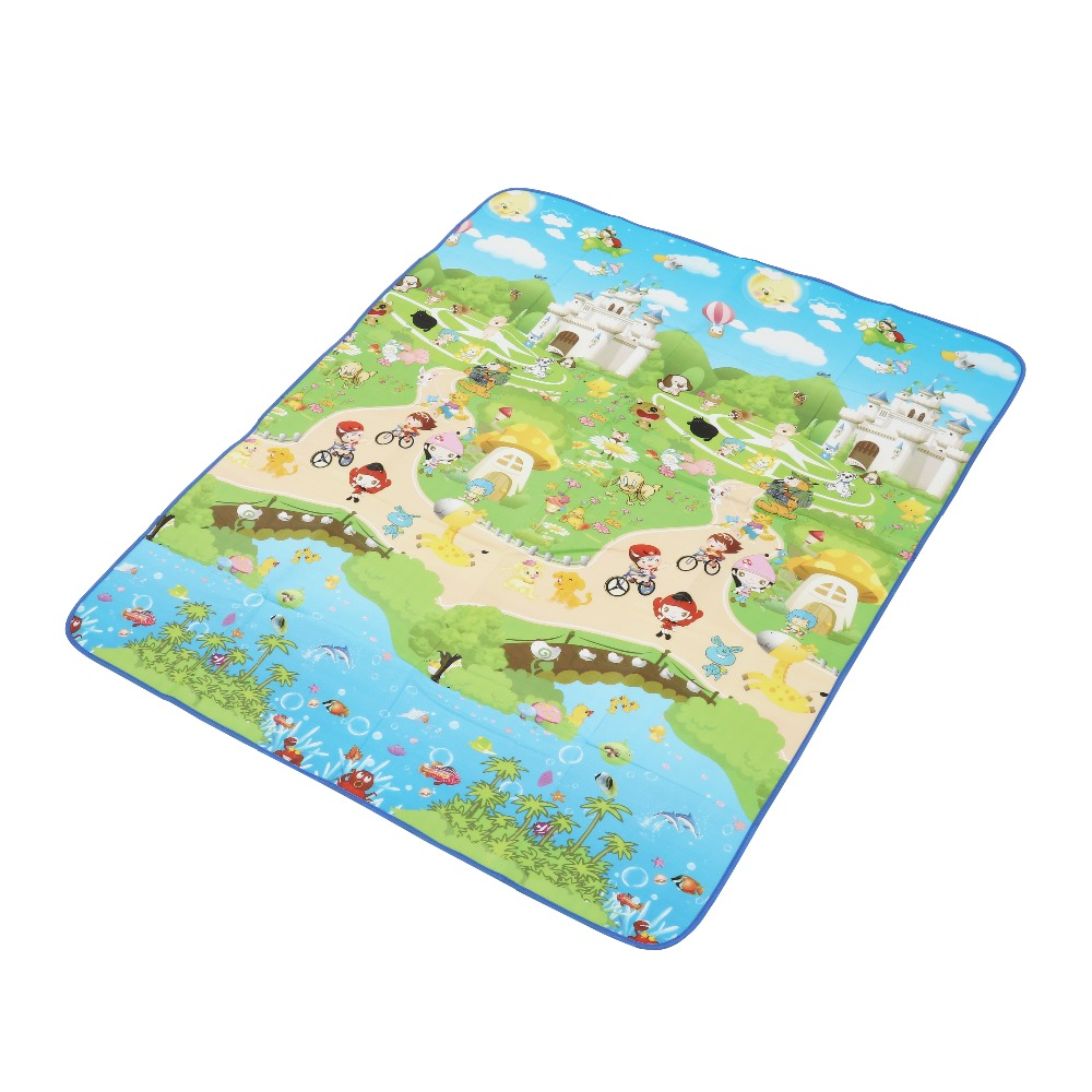 Baby Play Mat 150*180cm Crawling Double Surface Carpet Rug Animal Carpet for Children Letter Paradise Safety Kids Climb Blanket