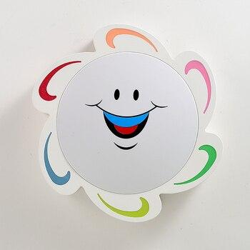 Moderne einfache LED decke lichter sonne weiß schwarz decke montiert lampe kinderzimmer kreative LED aufbau leuchte