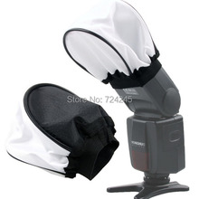 2pcs/lot Universal Nylon Cloth Soft Camera Flash Bounce Diffuser Softbox for Canon Nikon Sony Pentax Olympus Contax