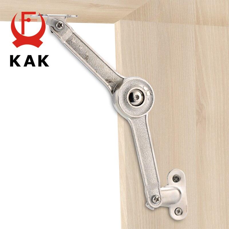 KAK Randomly Stop Adjustable Hinge Cabinet Cupboard Door Furniture Lift Up Strut Lid Flap Stay Support Hydraulic Hinges Hardware