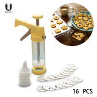 UARTER 16PCS DIY Cake Cookie Making Machine Baking Pastry Tips Biscuit Cookie Cutter Pastry Tools Cookie