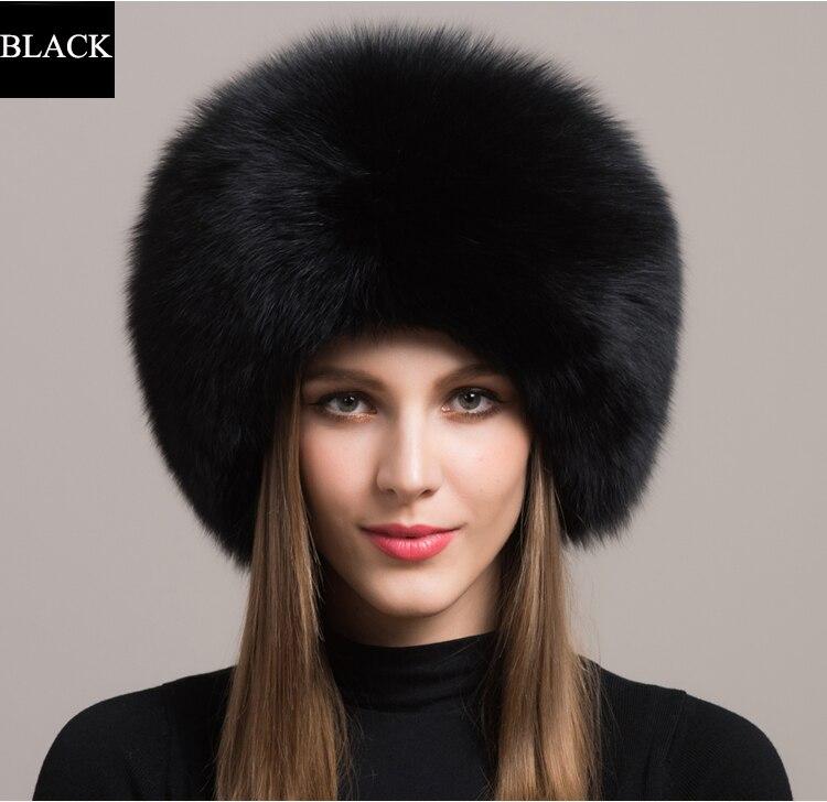 Winter Sexy Vintage Fashion Casual Nieuwe Vrouwen Vrouw Echte Natuurlijke Vos Hoed Warmer YH55