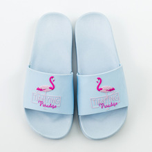 a50a7bafe72c2a 2018 Flamingo Slippers Women Summer Beach bathroom Slides Ladies Casual  Flats Sweet Flip Flops Sandals Lovely