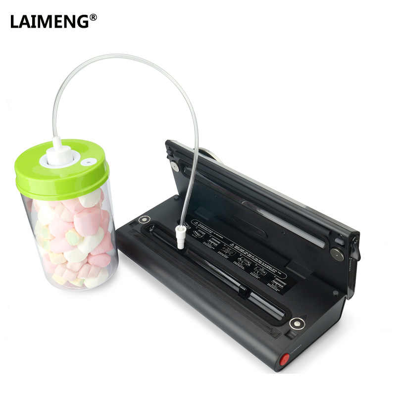 LAIMENG 2 Recipientes De Vácuo Trabalhar Com a Máquina De Embalagem A Vácuo Da Vasilha Com S171 Bomba Recipiente De Plástico com Tampa para Armazenamento De Alimentos