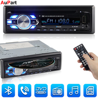 Radio Car CD Player Automotivo 1 Din 12V Bluetooth Autoradio Audio Auto Stereo USB AUX DVD VCD CD MP3 SD Card Radios Para Carro