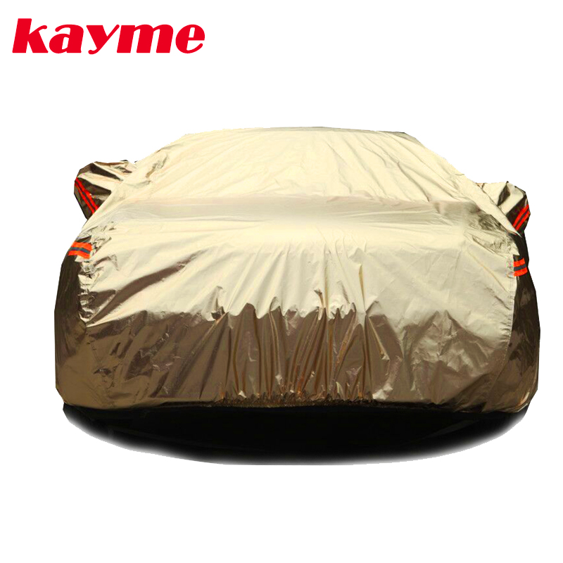 Kayme aluminium Waterproof car covers super sun protection dust Rain car cover full universal auto suv protective for vw toyota kayme waterproof full car covers sun dust rain protection car cover auto suv protective for mercedes benz w203 w211 w204 cla 210
