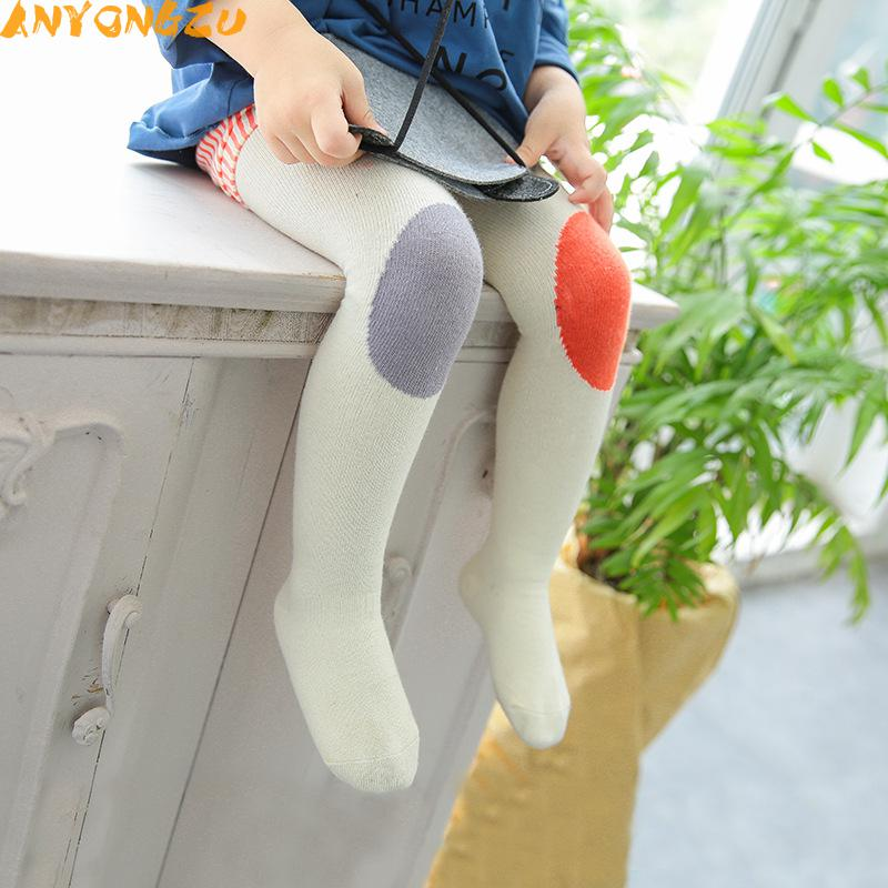 632599ac4 2pcs Cotton Knitting Baby Tights Girls Boys Cartoon Tights Toddler  Stockings Pantyhose Children Clothes Color matching-in Tights   Stockings  from Mother ...
