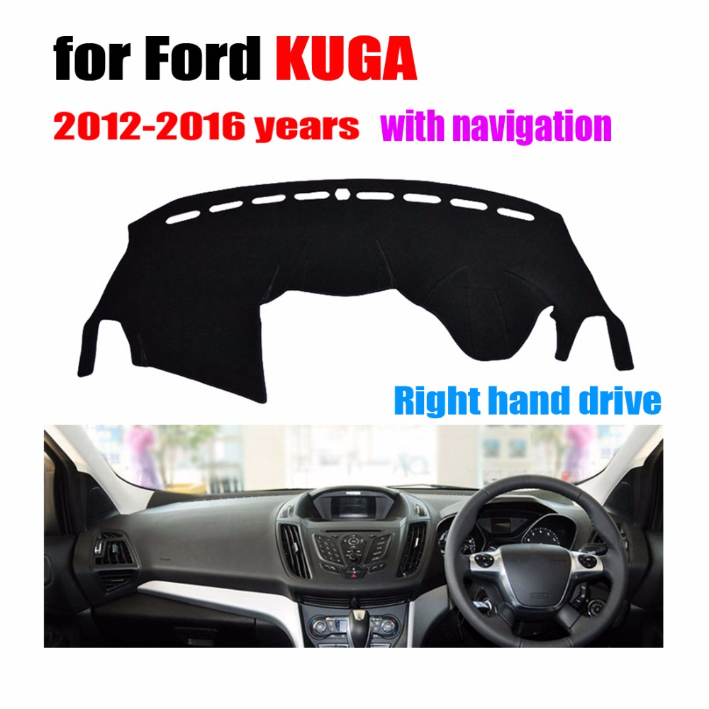 Car dashboard covers mat for ford escape kuga with navigation 2012 2016 right hand drive dashmat pad dash cover auto accessories