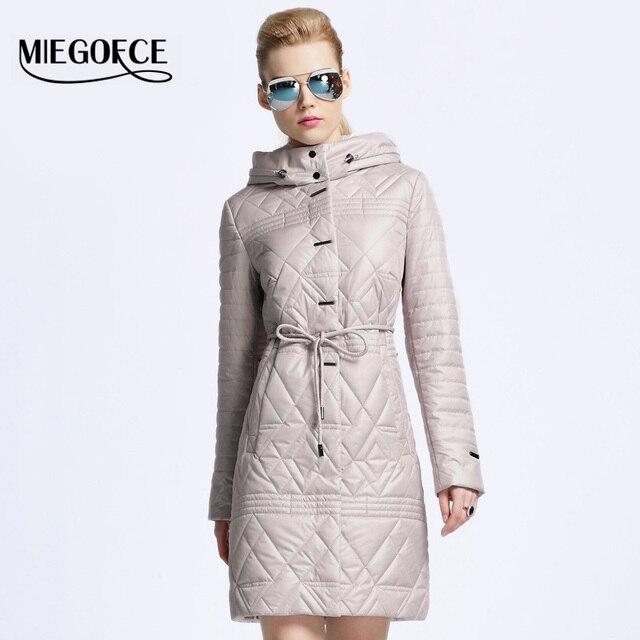 MIEGOFCE 2017 женский пуховик пальто женское весна женская парка пуховик весна осень женский новый бренд одежды открытый теплое пальто пиджак женский шляпа съемный Одежда для женщин