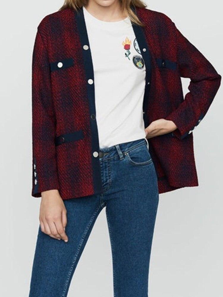 Nuevo invierno de las mujeres suéter de punto Chaqueta de punto con bolsillos Inglaterra College estilo-in Caquetas de punto from Ropa de mujer    1