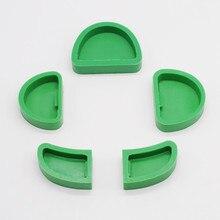 1 Set/5 قطعة معدات المختبر طب الأسنان سيليكون الجص نموذج قوالب قاعدة السابق على نموذج الحجر العمل
