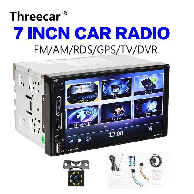 2 Din lecteur multimédia TV numérique avec RDS GPS FM AM DVR vue arrière caméra Navigation Bluetooth miroir lien téléphone Android