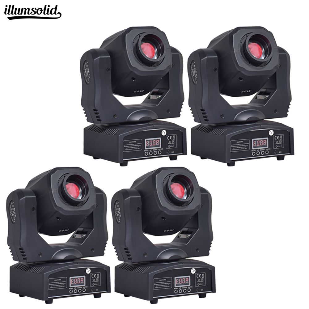 moving 60w LED Moving Head gobo Light led dmx 512 control dj diso moving head light(4 pieces/lot)Stage Lighting Effect   -