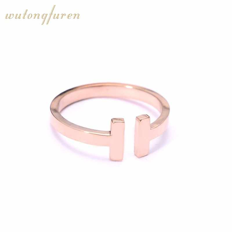 cheap Letter Ring Wedding H Rings For Women and men Jewelry Accessories Rose Gold  Engagement fashion hot sale free shipping