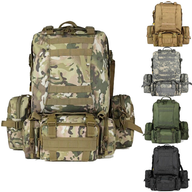 Newest outdoor sport cycling hiking trekking rucksacks,large capacity Tactical military Backpack,Multi-function combination bags 2017 large capacity outdoor climbing military tactical rucksacks sport camping hiking trekking backpack new