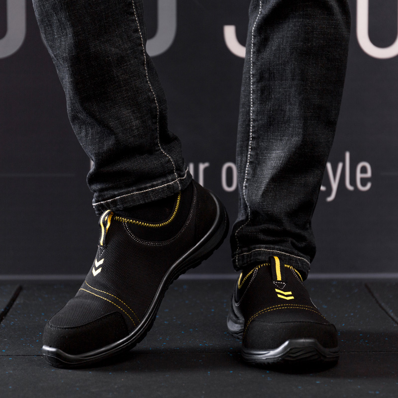 plus size men s casual steel toe covers work safety shoes anti pierce slip on platform